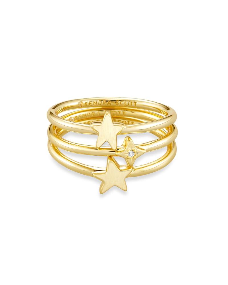 Jae Star Ring Set of 3 in Gold | Kendra Scott