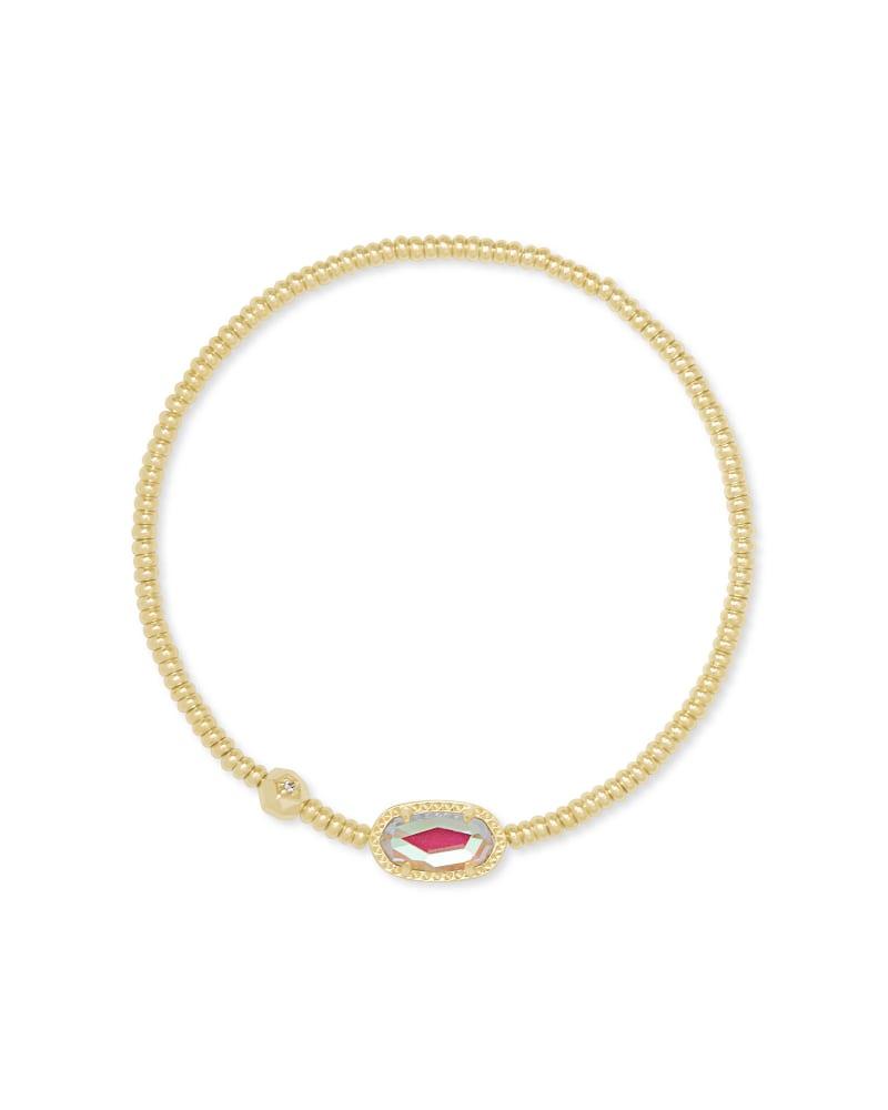 Grayson Gold Stretch Bracelet in Dichroic Glass   Kendra Scott