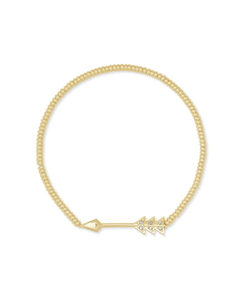 Zoey Arrow Stretch Bracelet in Gold