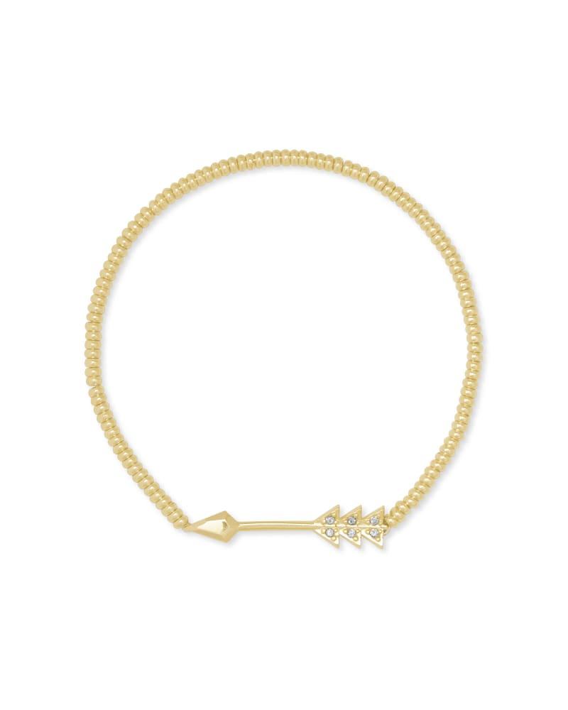 Zoey Arrow Stretch Bracelet in Gold   Kendra Scott