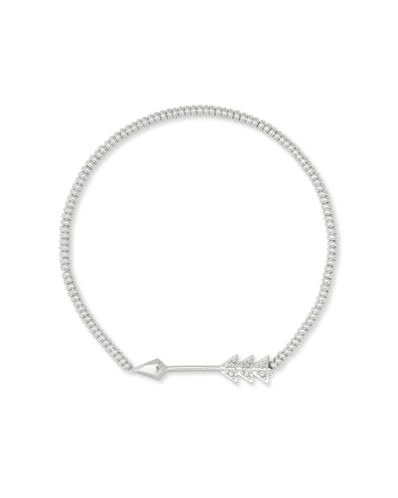 Zoey Arrow Stretch Bracelet in Silver