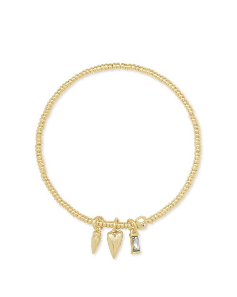 Zoey Arrow Stretch Charm Bracelet in Gold