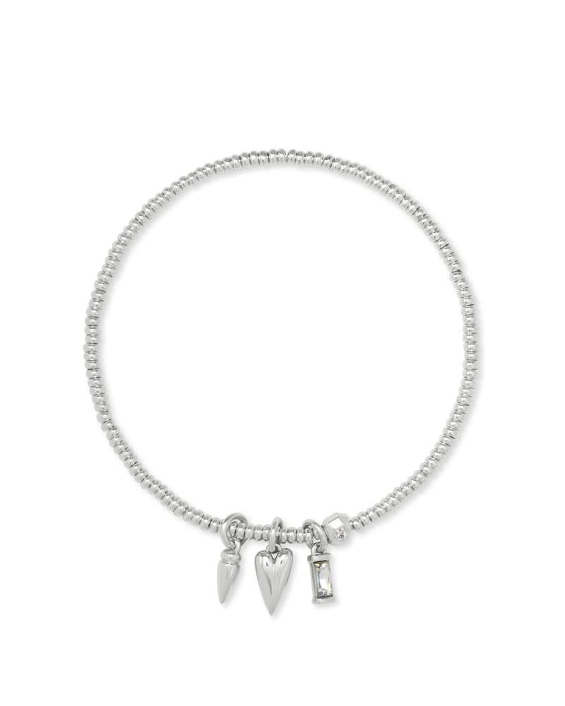 Zoey Arrow Stretch Charm Bracelet in Silver
