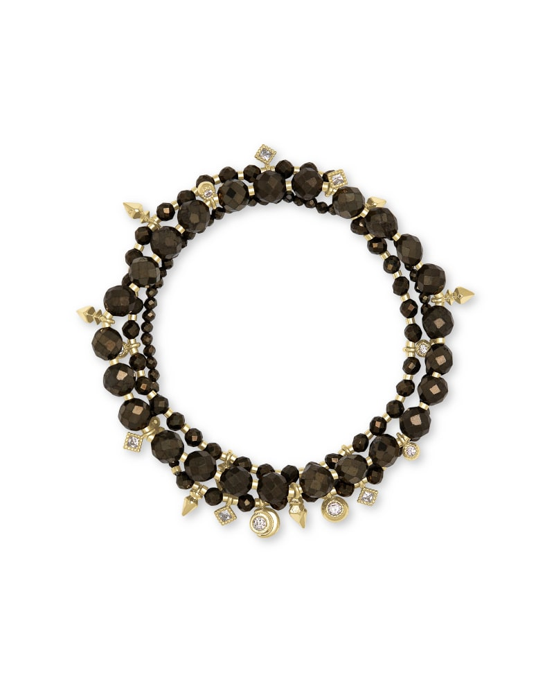 Kennedy Gold Stretch Bracelet in Pyrite