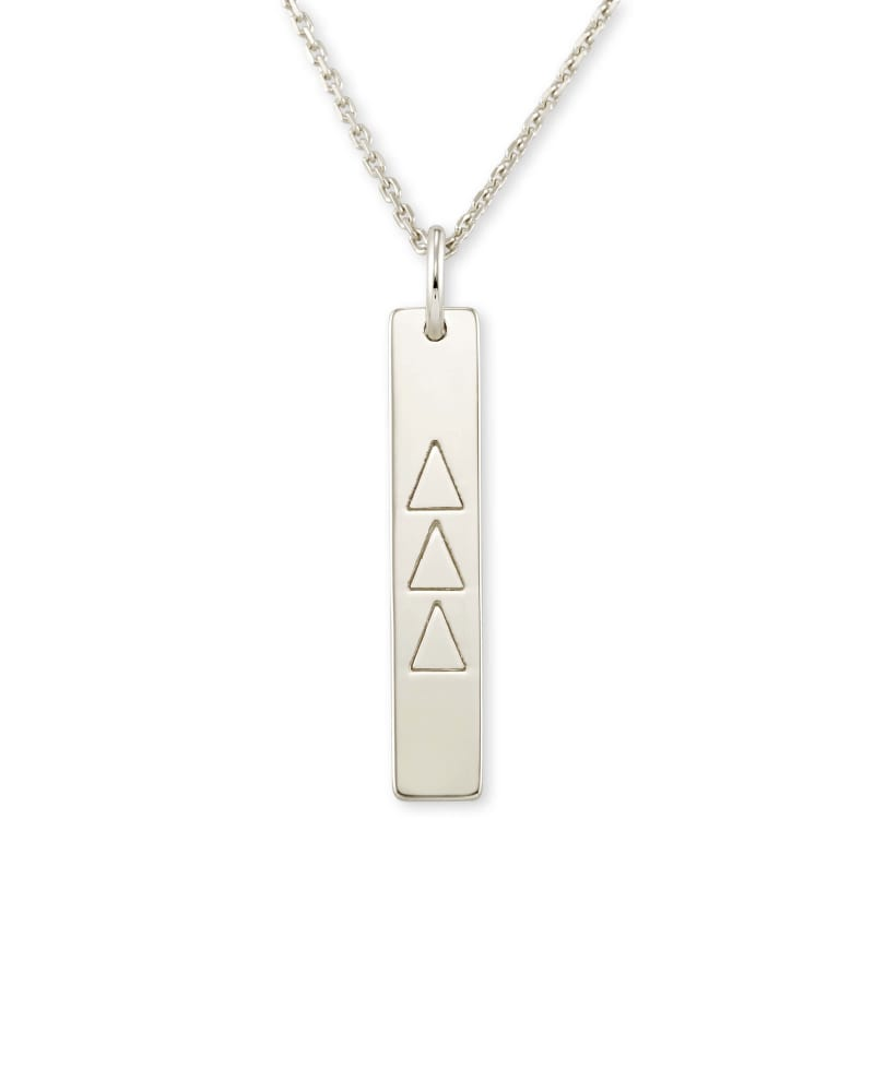 Tri Delta Charm Necklace in Sterling Silver