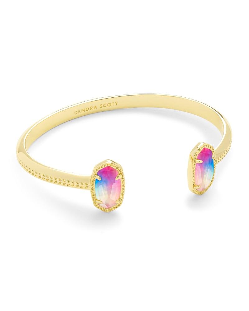 Elton Gold Cuff Bracelet in Watercolor Illusion