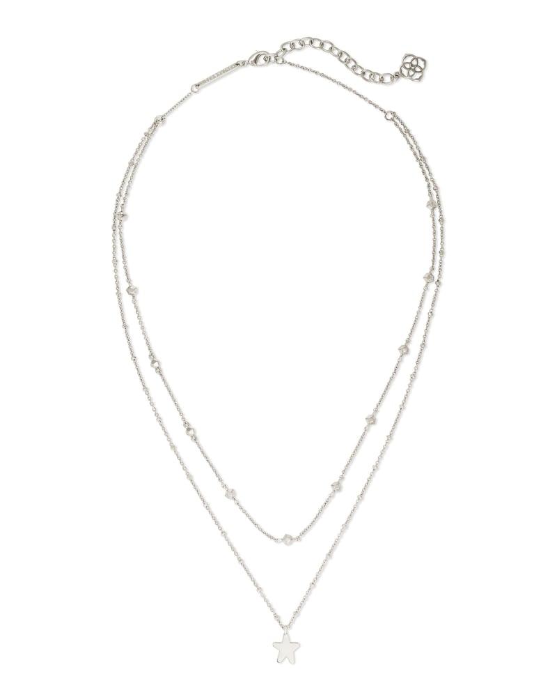 Jae Star Multi Strand Necklace in Silver