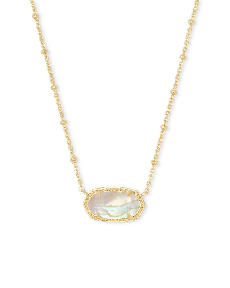 Elisa Satellite Gold Pendant Necklace in Iridescent Abalone | Kendra Scott