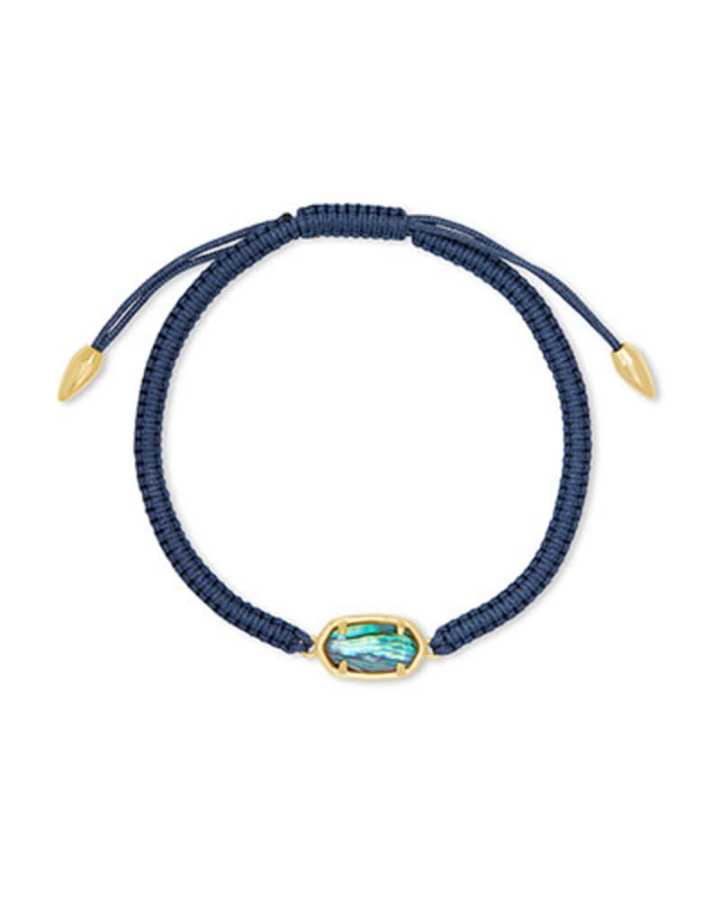 Grayson Navy Friendship Bracelet in Abalone Shell