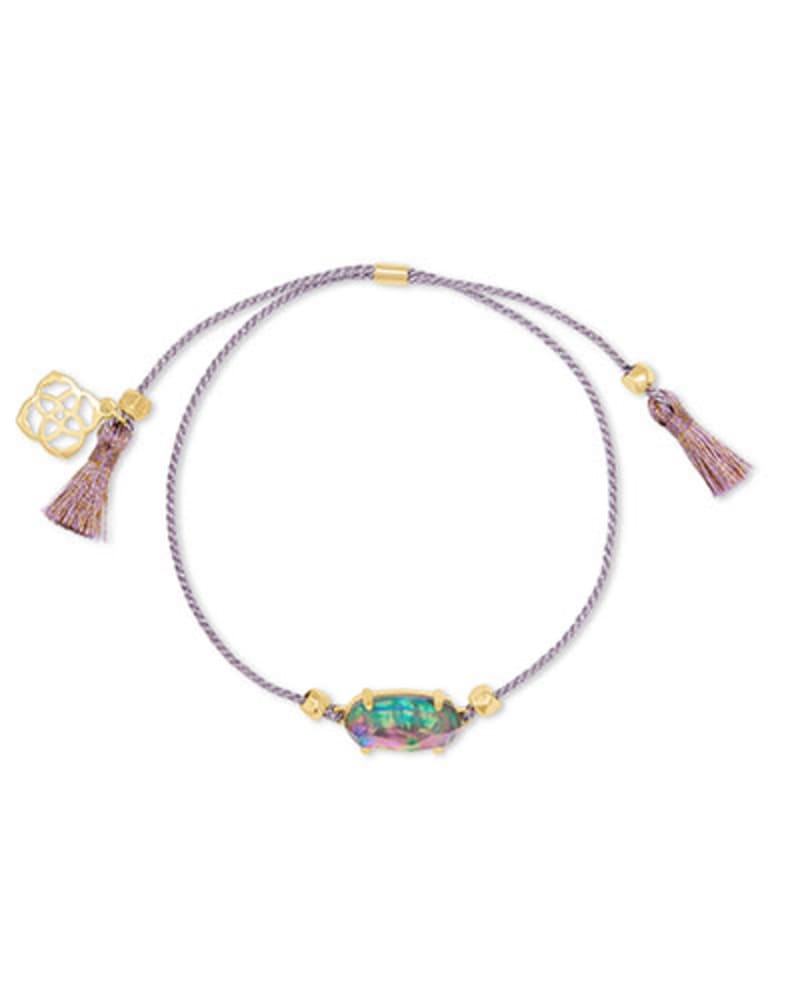 Everlyne Lilac Cord Friendship Bracelet in Lilac Abalone