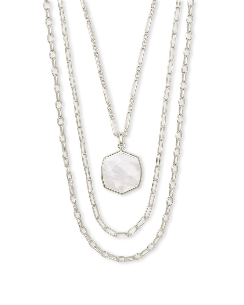 Davis Silver Multistrand Necklace in Ivory Mother-of-Pearl