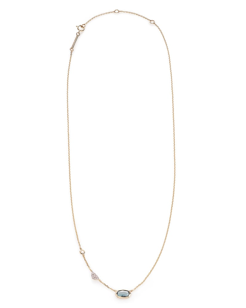 Aryn Pendant Necklace in London Blue Topaz and 14k Yellow Gold