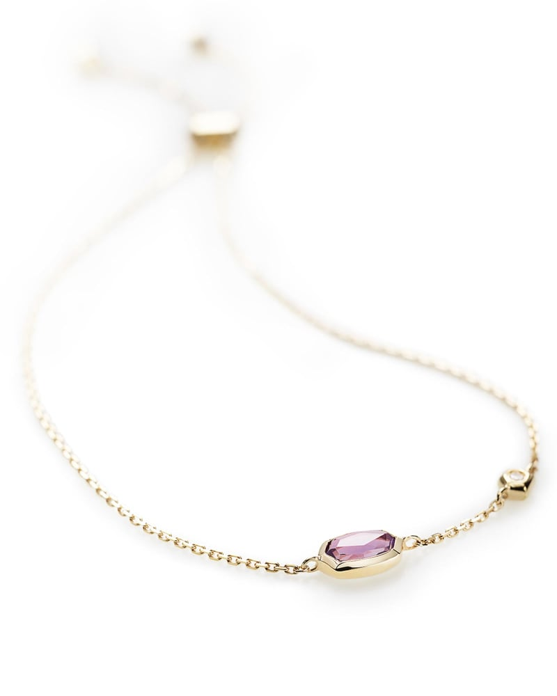 Benson Adjustable Bracelet in Amethyst and 14k Yellow Gold