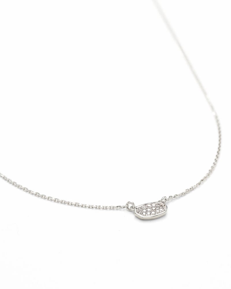 Marisa Pendant Necklace in White Diamond and 14k White Gold