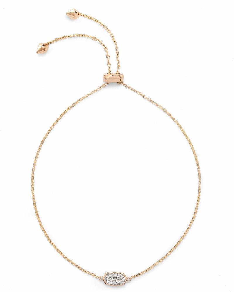 Millicent Adjustable Bracelet in White Diamond and 14k Rose Gold