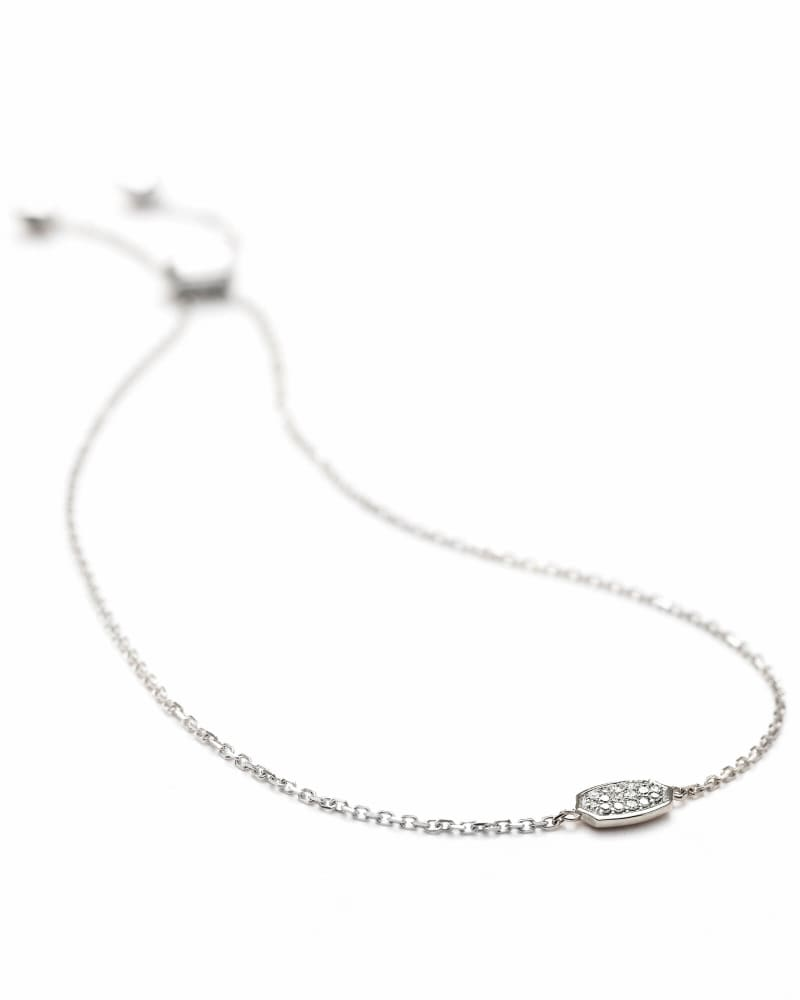 Millicent Adjustable Bracelet in White Diamond and 14k White Gold