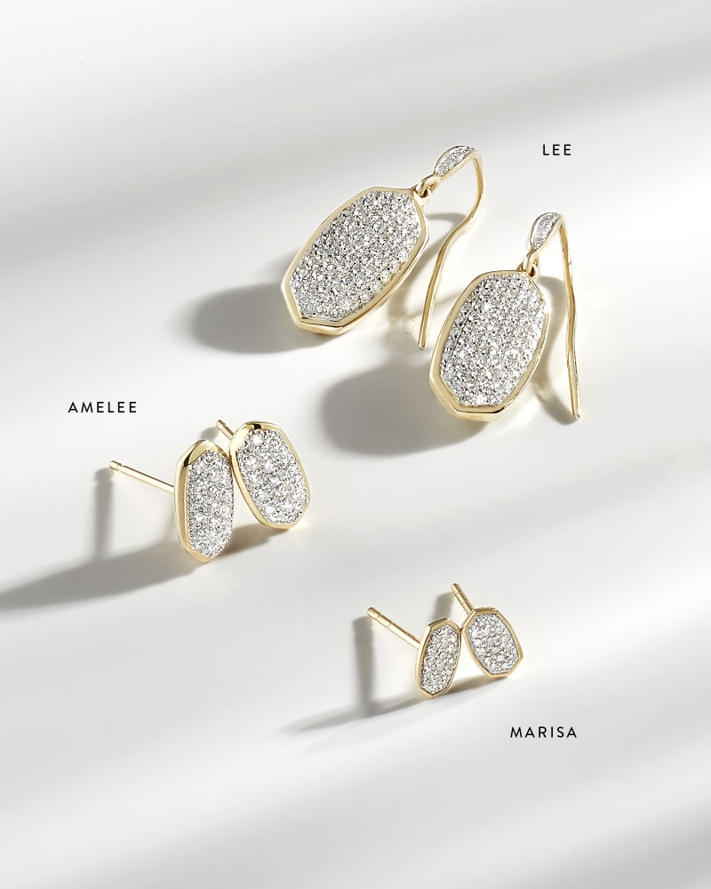 Lee Drop Earrings in Pave Diamond