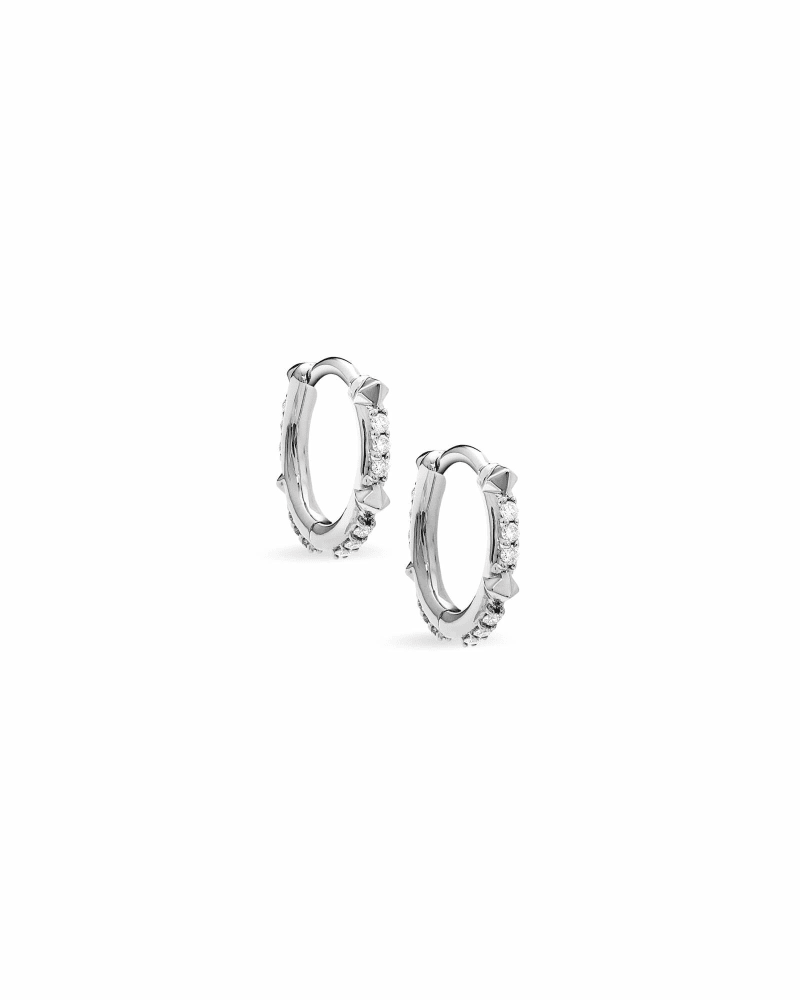 Jett 14k White Gold Earrings in White Diamond