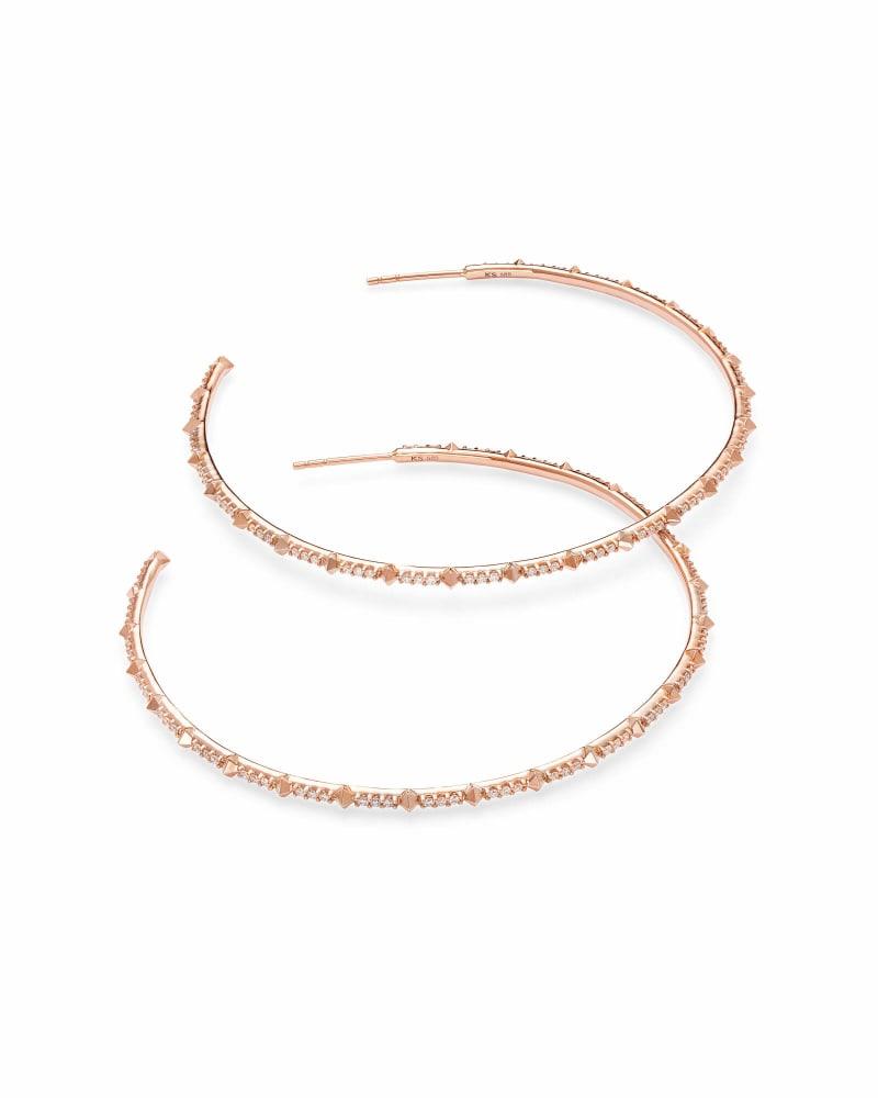 Nia Earrings in White Diamond