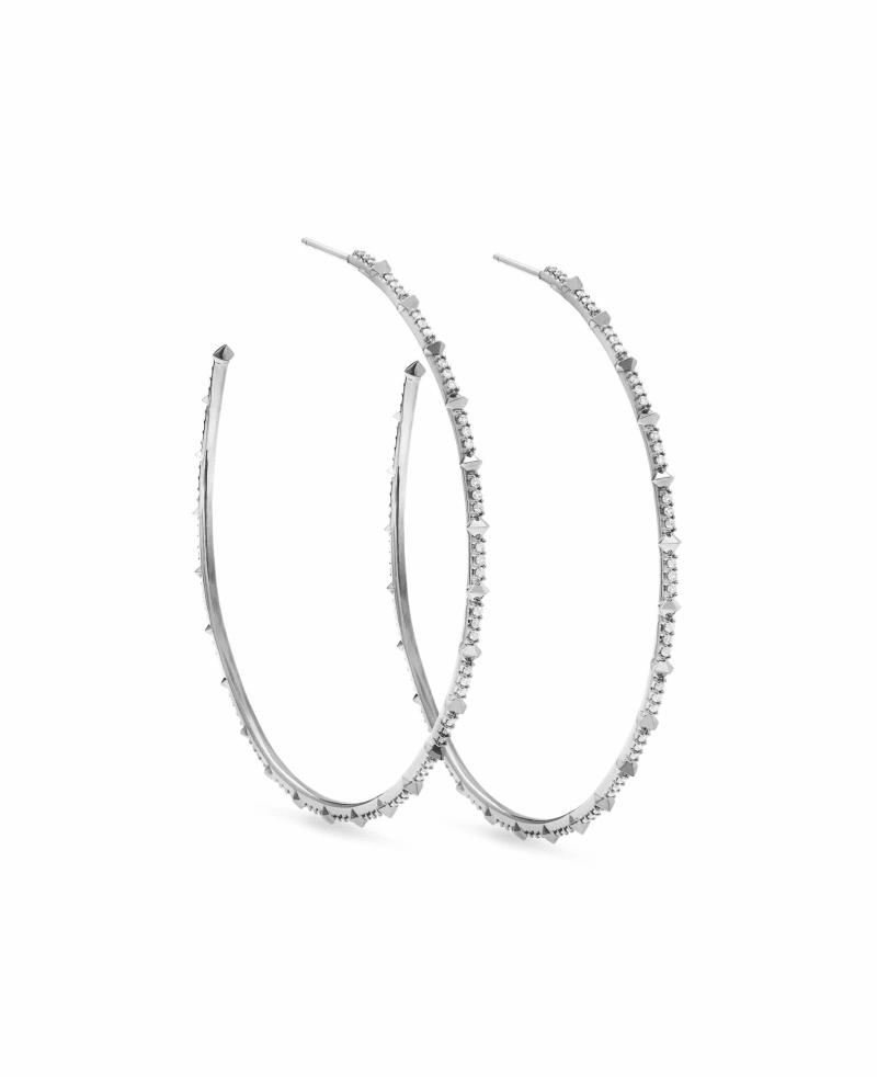 Nia 14k White Gold Earrings in White Diamond