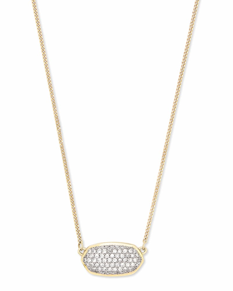 Elisa Pave Diamond Pendant Necklace