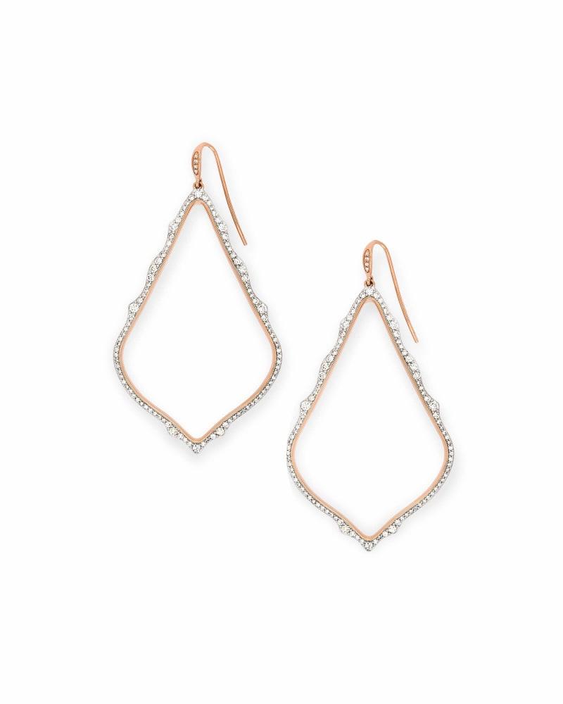 Sophee Drop Earrings in White Diamond