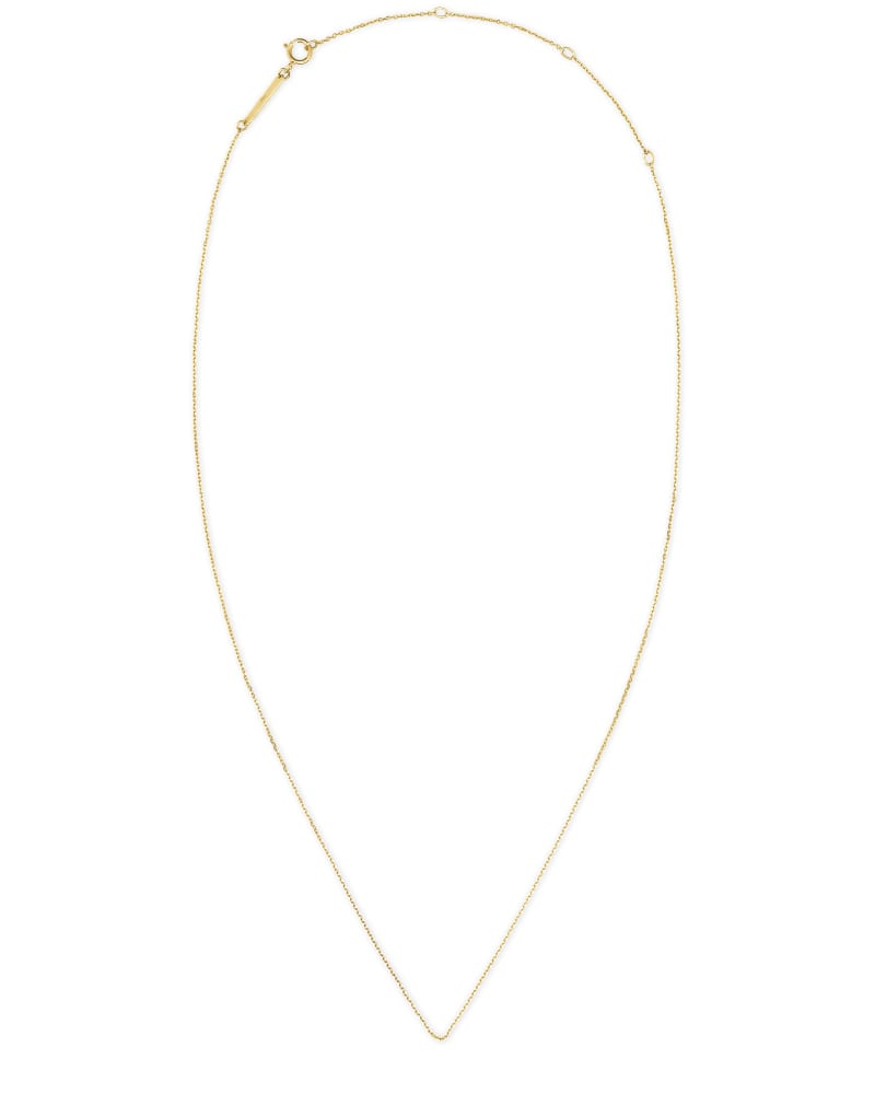 """15"""" Thin Chain Necklace in 14k Yellow Gold"""