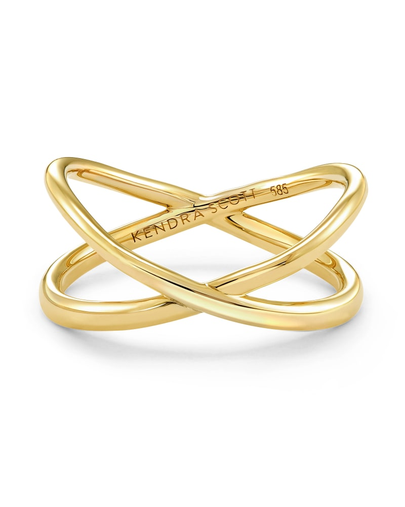 Emerson Double Band Ring in 14k Yellow Gold