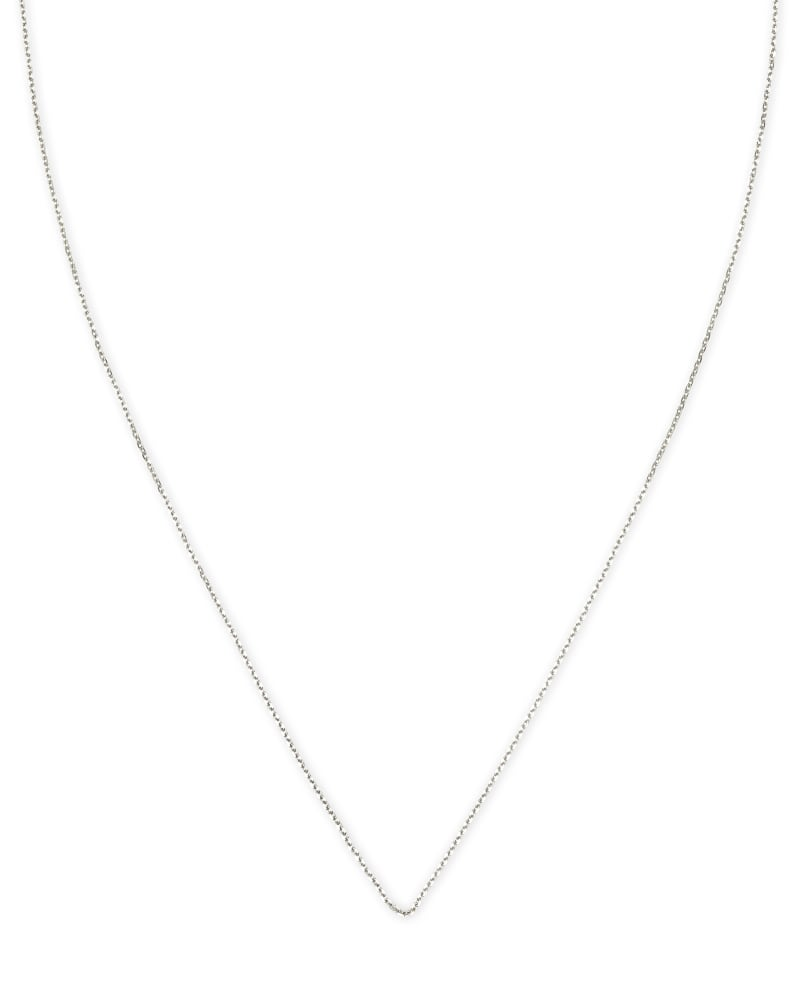 """15"""" Thin Chain Necklace in 14k White Gold"""