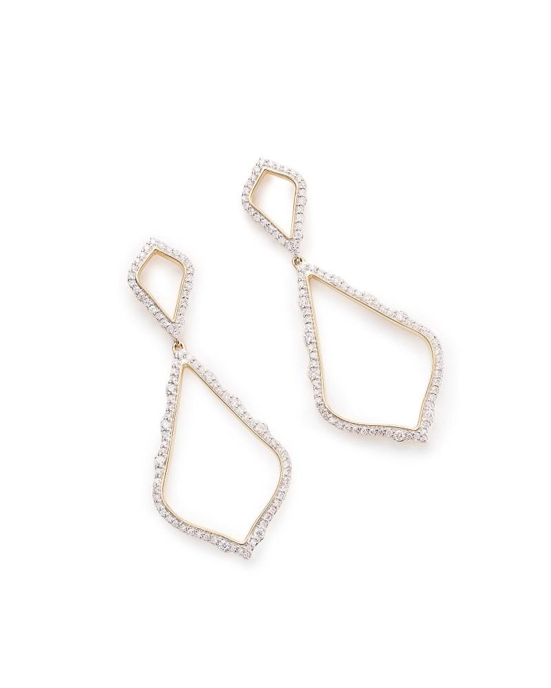 Alexa Pave Diamond Statement Earrings