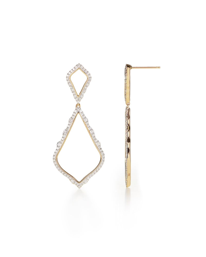 Alexa Pave Diamond Statement Earrings