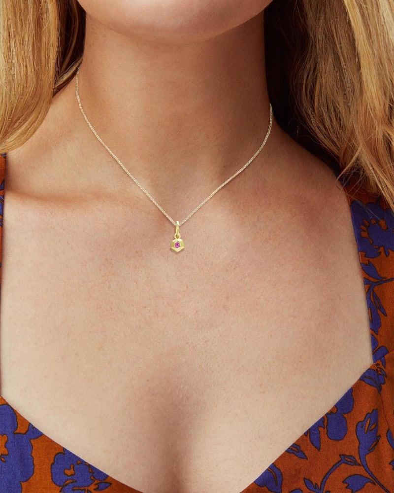 Blaire 18k Gold Vermeil Charm in Pink Topaz