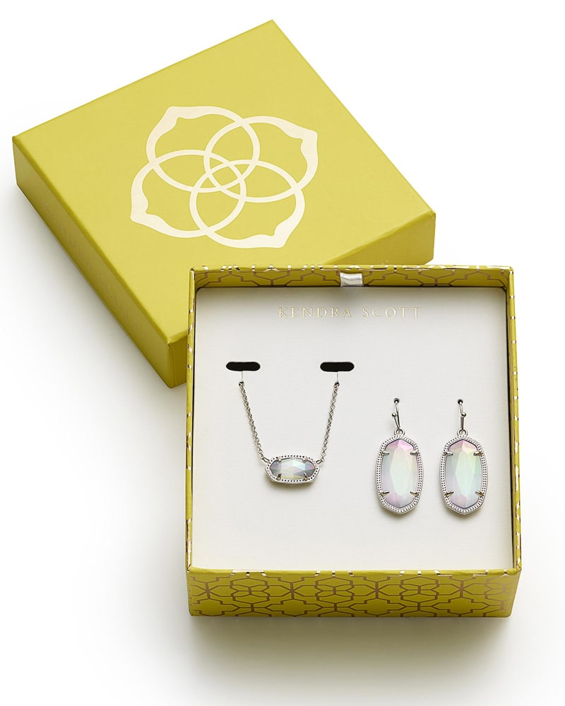 Dani Earrings and Elisa Necklace Gift Set in Silver
