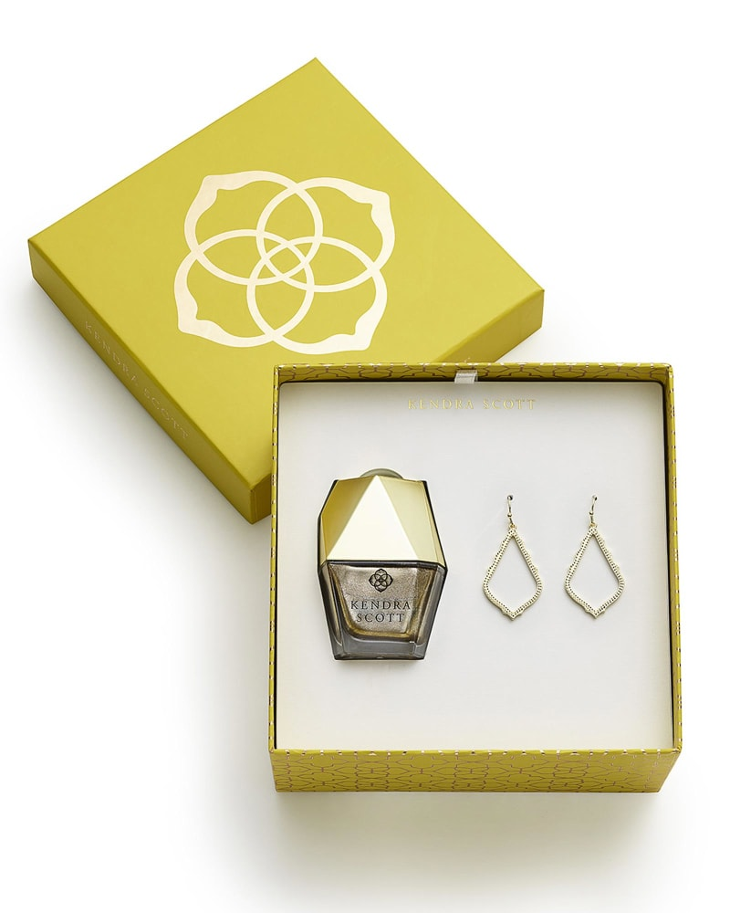 Sophia Earrings and Nail Lacquer Gift Set