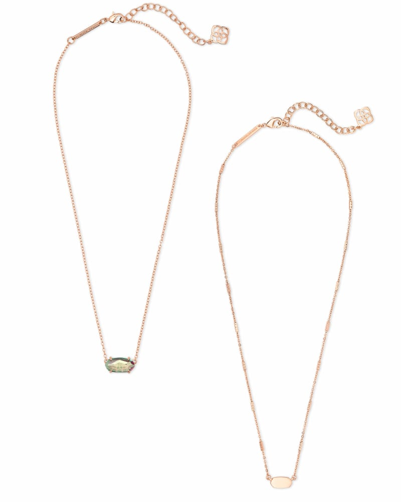 Fern & Ever Necklaces Gift Set in Rose Gold