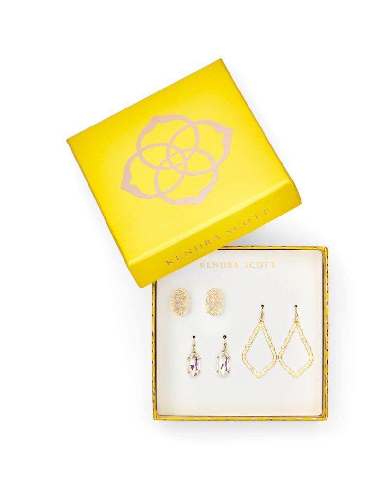 Sophia, Lemmi, & Ellie Earring Gift Set in Gold