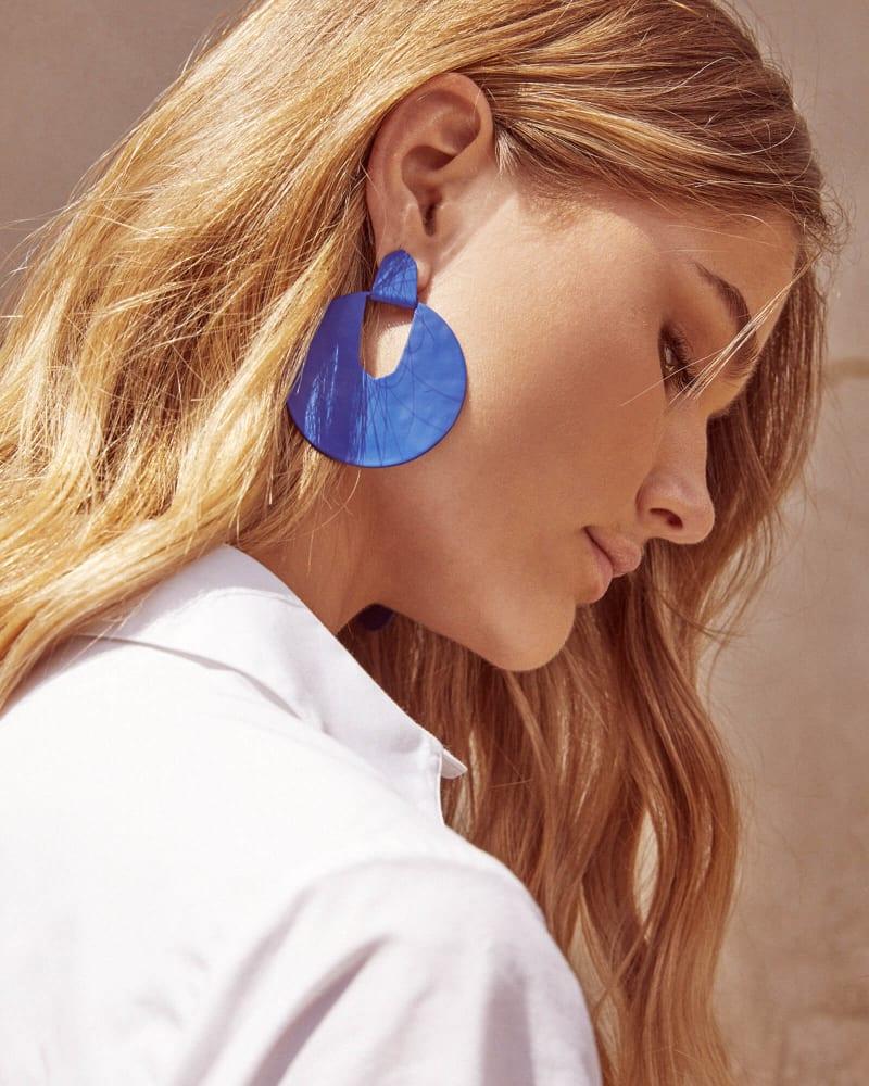 Diane Matte Statement Earrings in Periwinkle