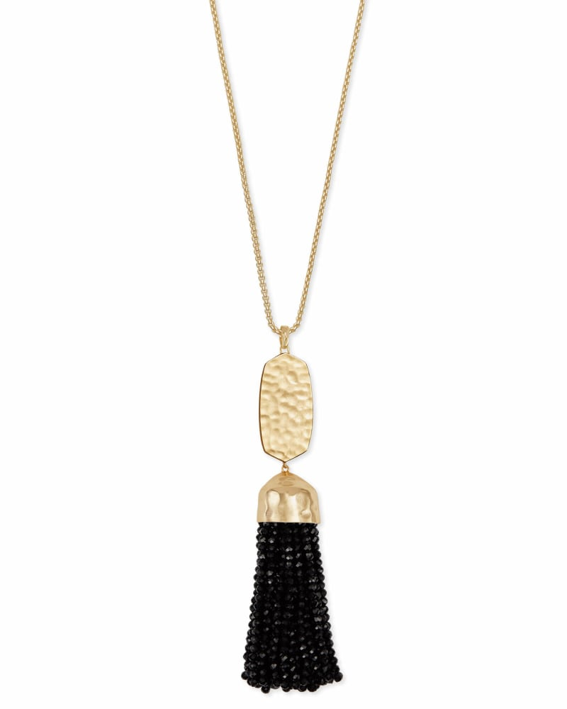 Monroe Long Pendant Necklace in Gold