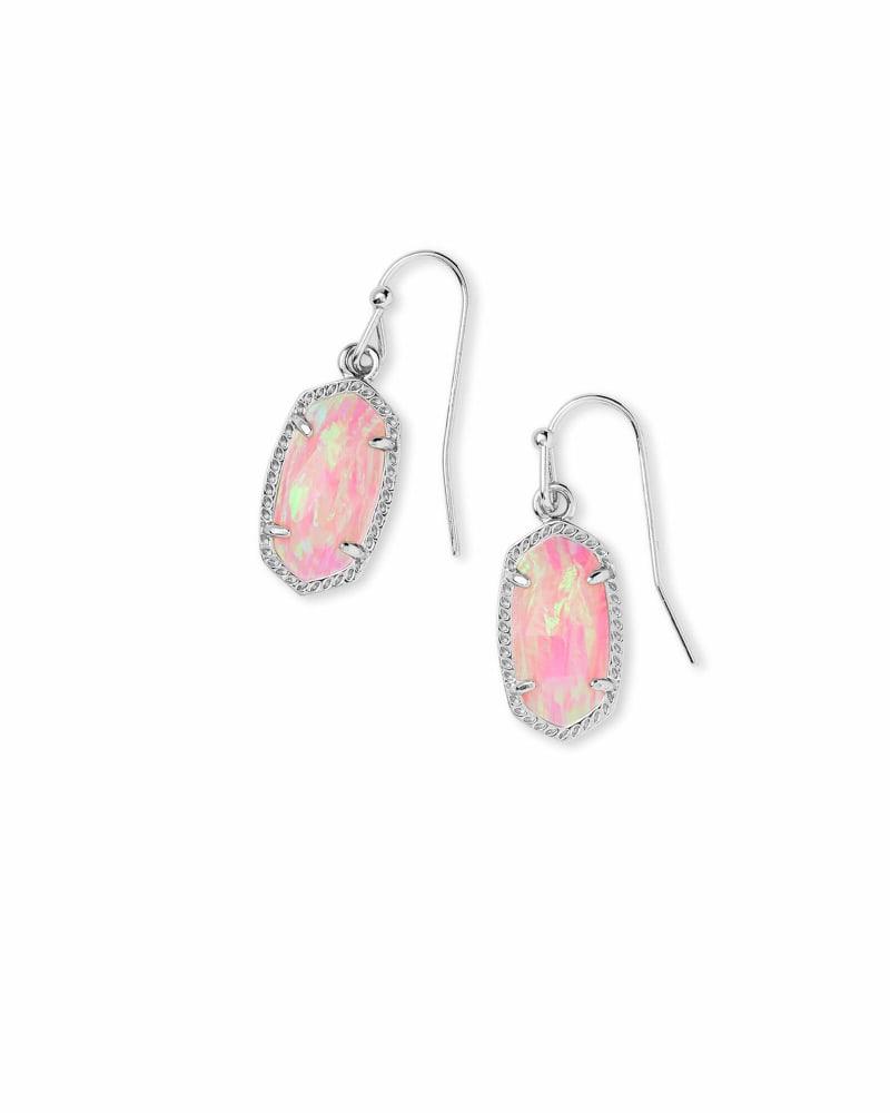 Lee Silver Earrings in Light Pink Opal