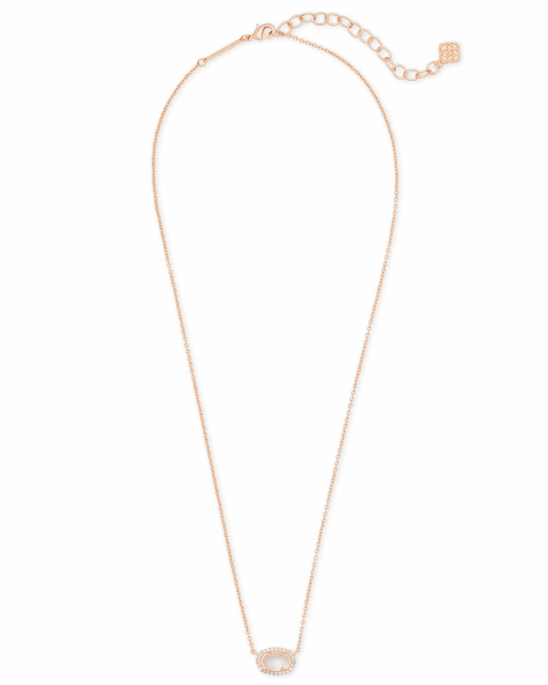 Chelsea Rose Gold Pendant Necklace in Ivory Pearl