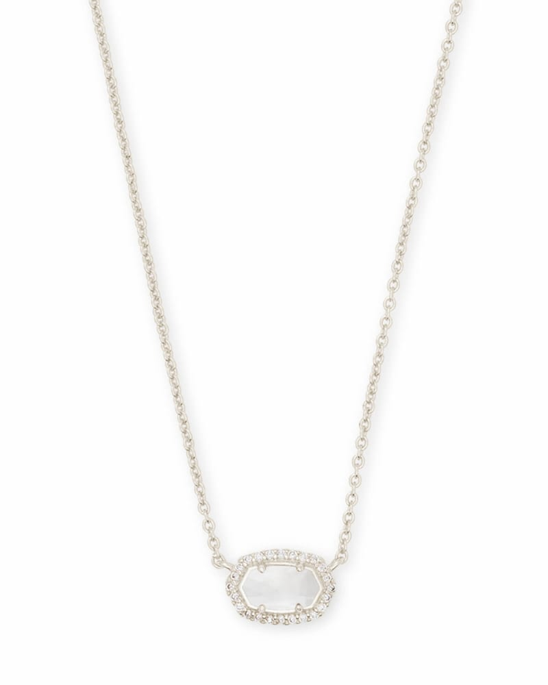 Chelsea Silver Pendant Necklace in Ivory Pearl