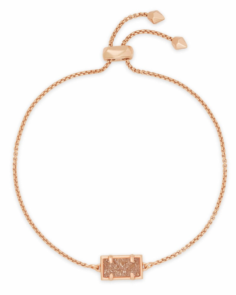 Phillipa Rose Gold Chain Bracelet in Sand Drusy
