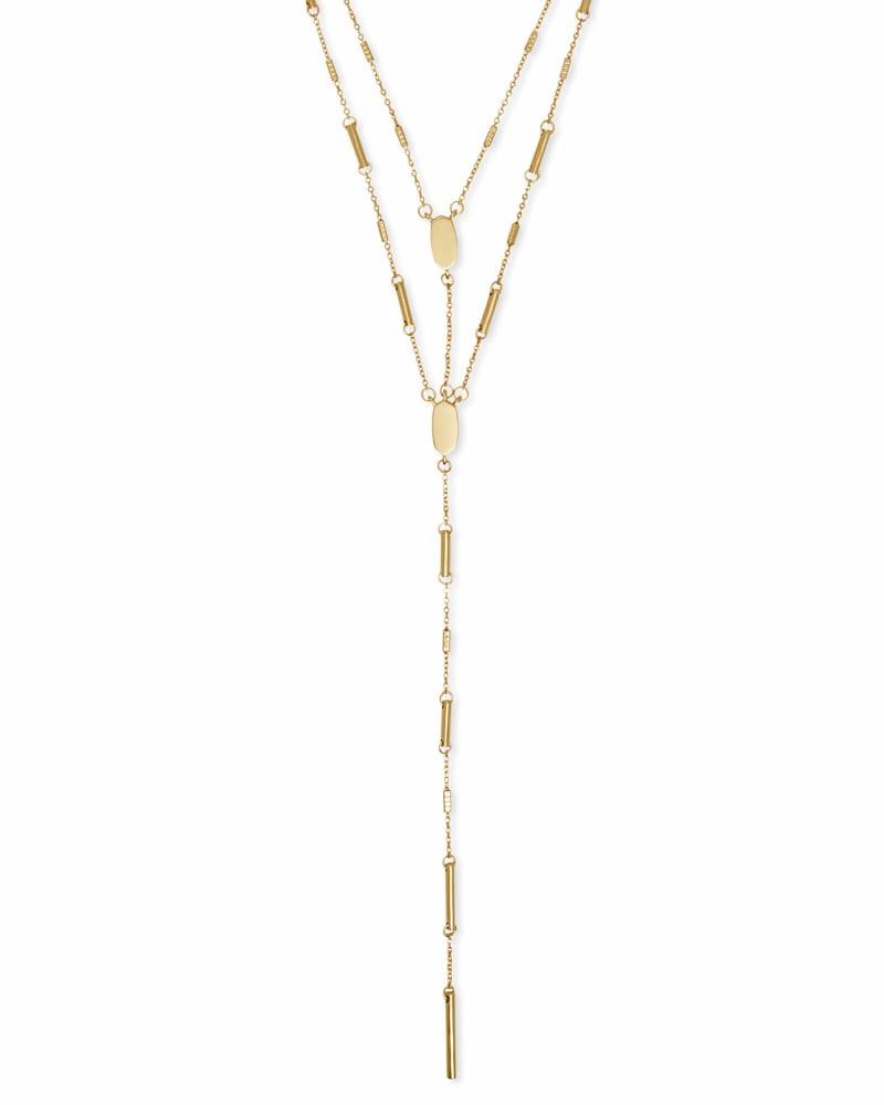 Adelia Y Necklace in Gold