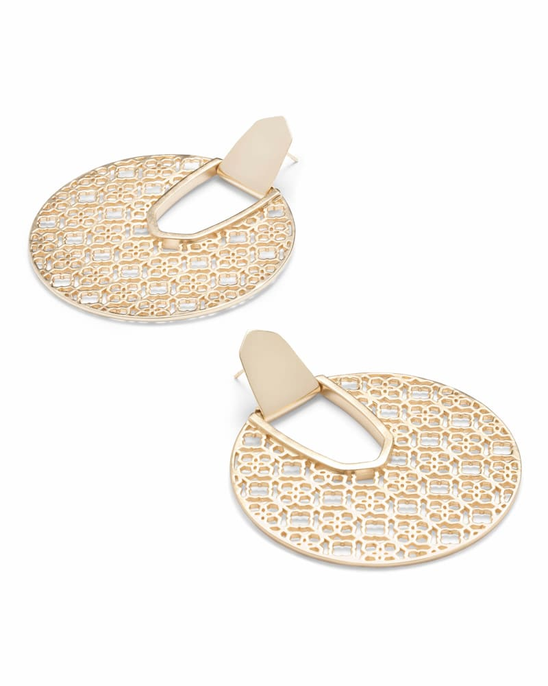 Diane Gold Statement Earrings in Gold Filigree
