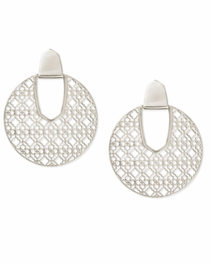 Diane Silver Statement Earrings in Silver Filigree