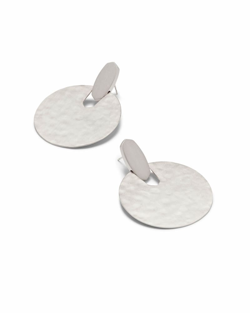 Didi Statement Earrings in Silver