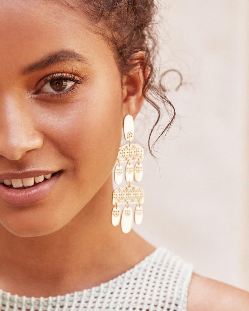 Emmet Statement Earrings in Filigree