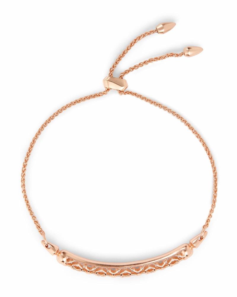 Gilly Rose Gold Link Bracelet in Rose Gold Filigree
