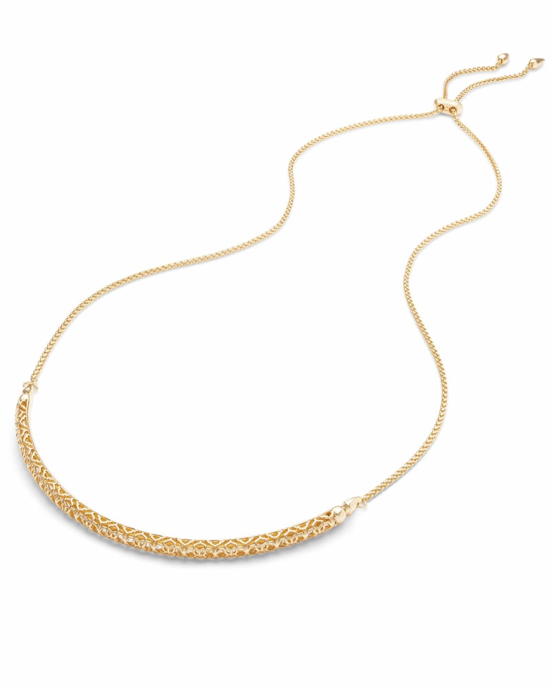 Goldie Gold Choker Necklace in Gold Filigree