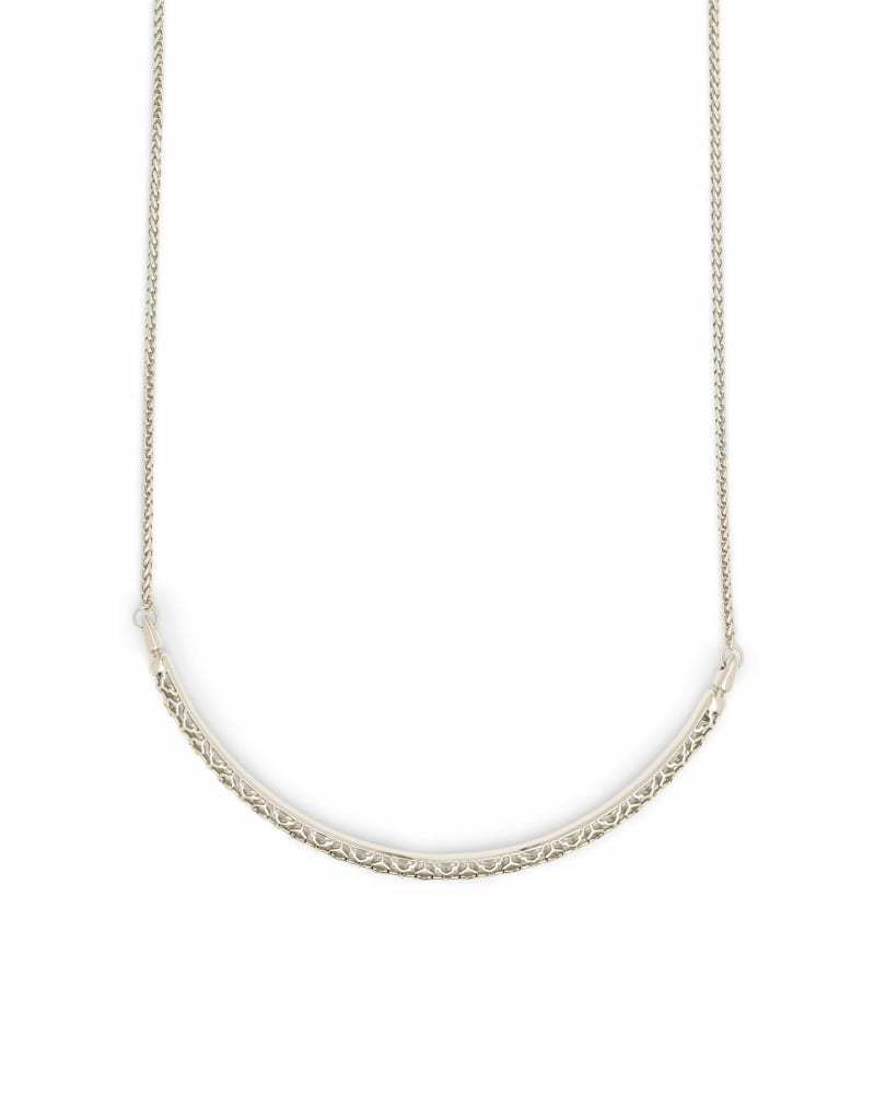 Goldie Silver Choker Necklace in Silver Filigree
